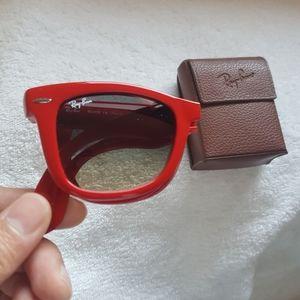 Red Folding Ray-ban Wayfarer - Special Series